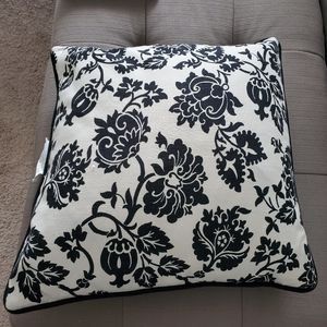 Black & Off White Accent Pillow